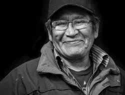 Abraham Stewart, Tetlit Gwich'in Citizen, Fort McPherson, Northwest Territories: My son tells me he has questions about when my mom was around. I tell him how my mom raised us up on the land. I think a lot of our young people they missed out on the elders and the stories. I think they want to be part of that. They want to feel that connection. I see these young guys going down the Peel River, they're building where their grandparents used to live. It really makes me happy.  -