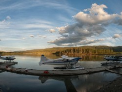 Float planes dock at the start of an expedition of the Peel Watershed © Peter Mather -