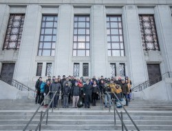The Peel delegation gathers on the steps of the Supreme Court of Canada © Justin Van Leeuwen