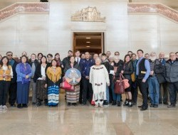 All members of the Peel delegation at the grand entrance of the Supreme Court of Canada